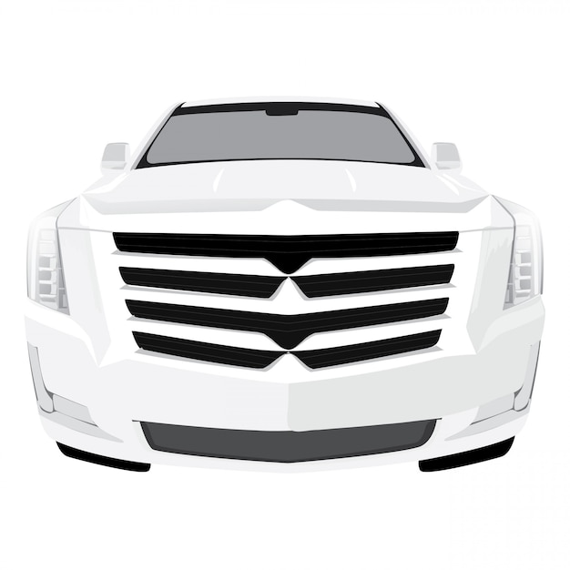 Vooraanzicht auto vectorillustratie Premium Vector
