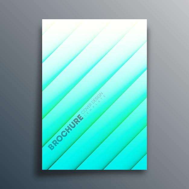 Voorbladsjabloon met diagonale lijnen voor flyer, poster, brochure, typografie of andere printproducten. illustratie Premium Vector