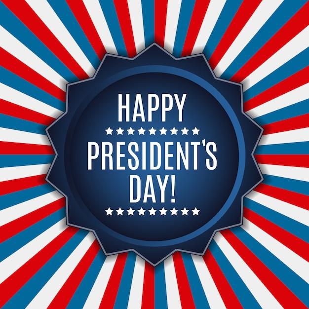 Voorzittersdag op de achtergrond van de vs. kan worden gebruikt als banner of post Premium Vector
