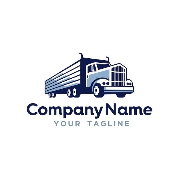 Vrachtvervoer levering logo sjabloon Premium Vector