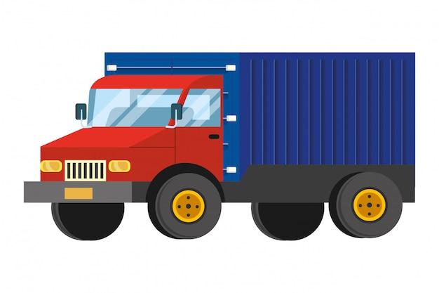 Vrachtwagen cartoon afbeelding Premium Vector