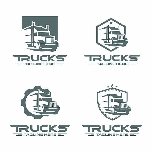 Vrachtwagen logo Premium Vector