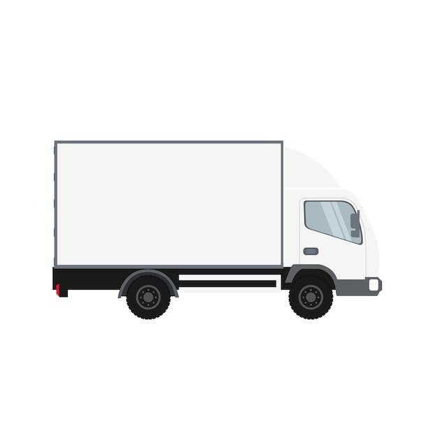 Vrachtwagen met koude ruimte Premium Vector