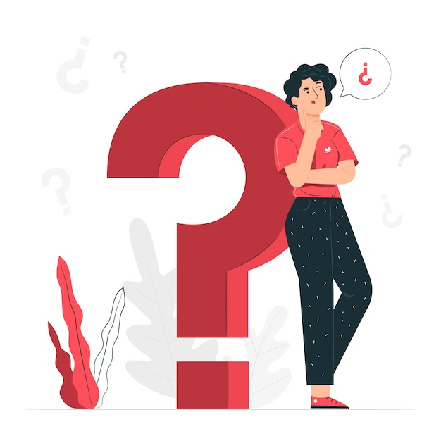 Vragen concept illustratie Gratis Vector