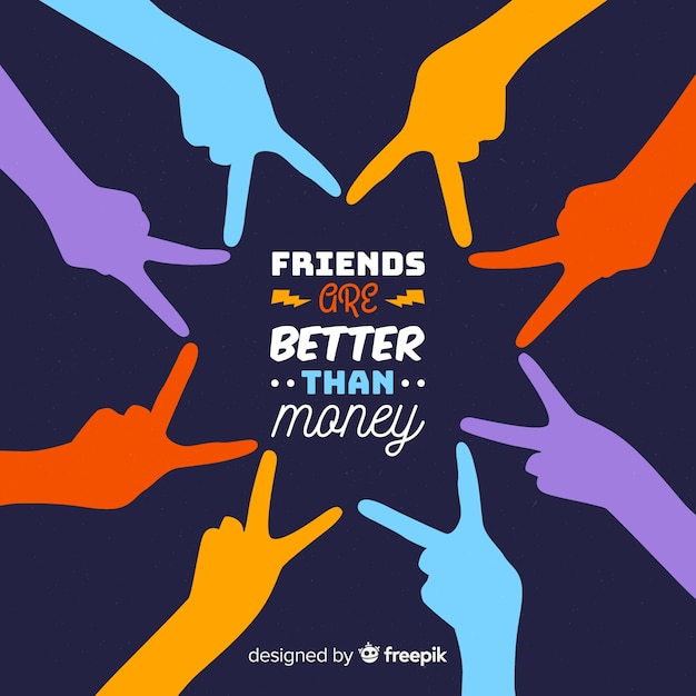 Vriendschap dag platte ontwerp achtergrond Gratis Vector