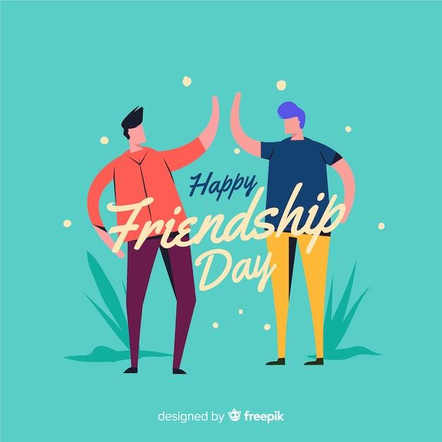Vriendschapsdag vlakke stijl als achtergrond Gratis Vector