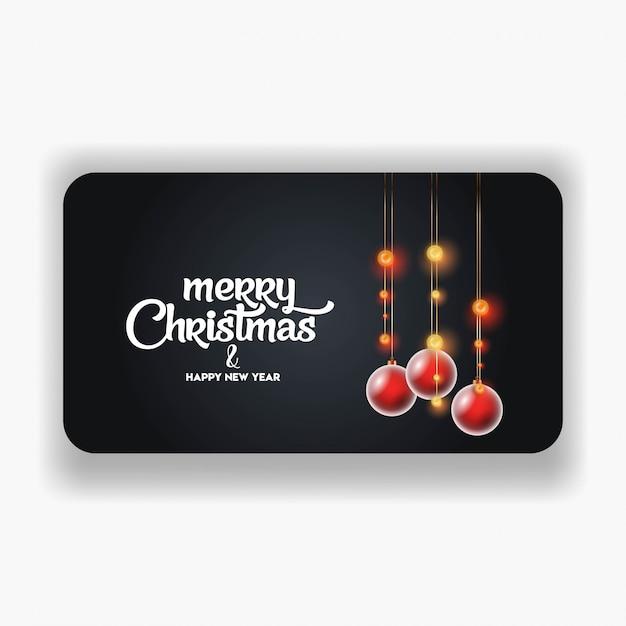 Vrolijk kerstfeest 2019 sjabloon voor spandoek Gratis Vector