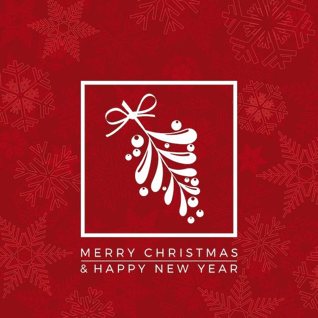 Vrolijk kerstfeest en een gelukkig nieuwjaar. begroeting, uitnodiging of menudekking. illustratie Premium Vector