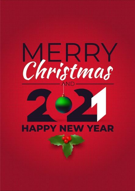 Vrolijk kerstfeest en een gelukkig nieuwjaar. lelijke sweaterstijl. Premium Vector