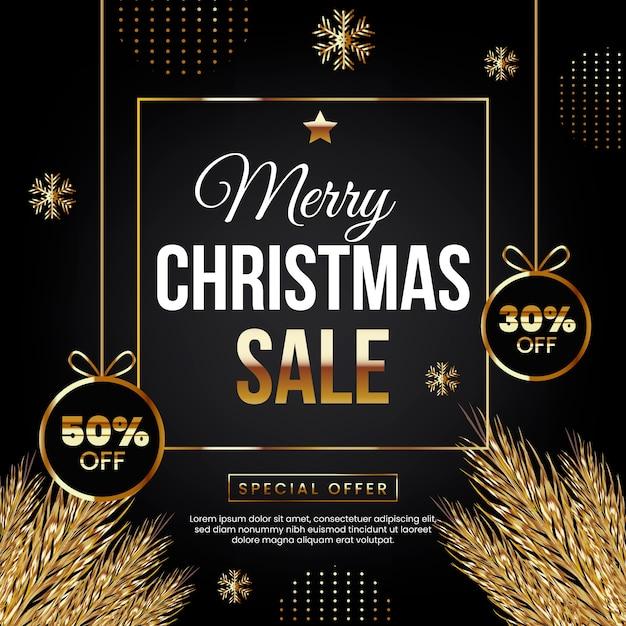 Vrolijk kerstfeest met speciale aanbieding Gratis Vector