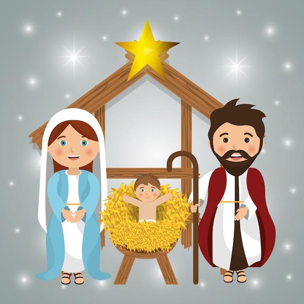 Vrolijk kerstfeest tekenfilms Gratis Vector