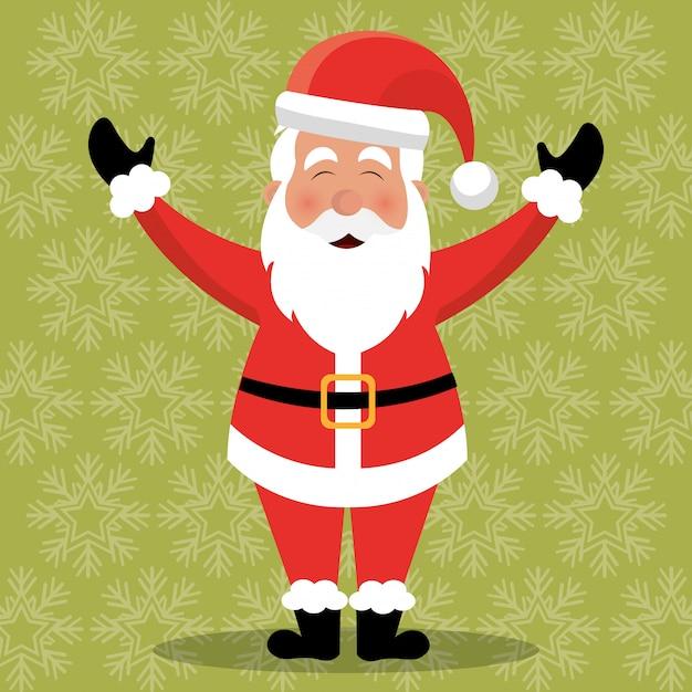 Vrolijk kerstmis kleurrijk kaartontwerp Gratis Vector
