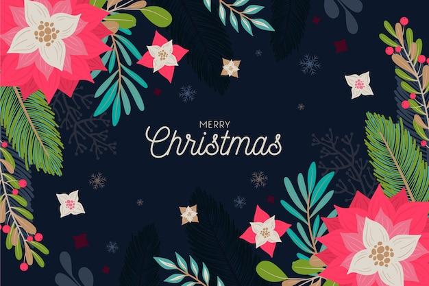 Vrolijk kerstmisconcept als achtergrond Gratis Vector