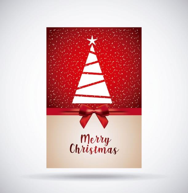 Vrolijke kerstdecoratie Gratis Vector