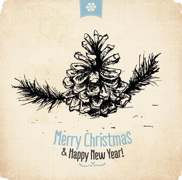 Vrolijke Kerstmis Gelukkig Nieuwjaar Wallpaper Vector Gratis