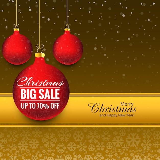 Vrolijke van de de bal grote verkoop van kerstmis vectorvector Premium Vector