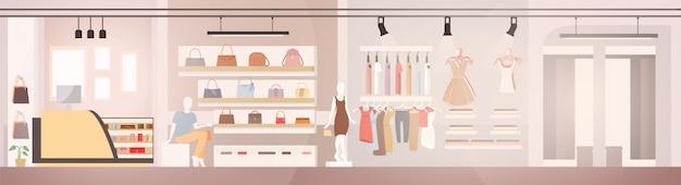 Vrouw kledingwinkel Premium Vector