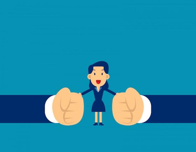 Vrouw stop conflict. stop met vechten Premium Vector