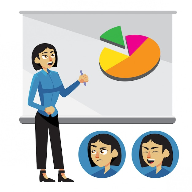 Vrouwelijke leraar vector Premium Vector