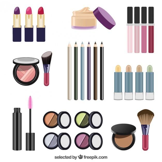 Vrouwen cosmetische elementen Gratis Vector