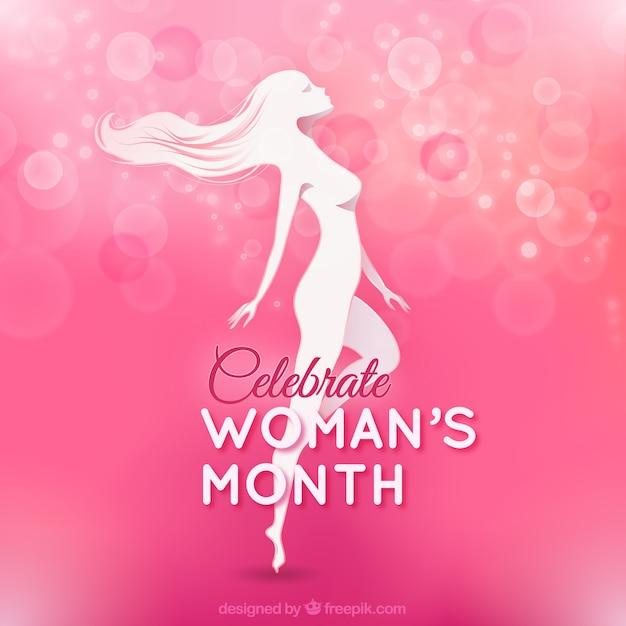 Vrouwen maand Premium Vector