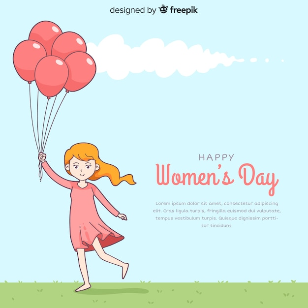 Vrouwendag achtergrond Gratis Vector