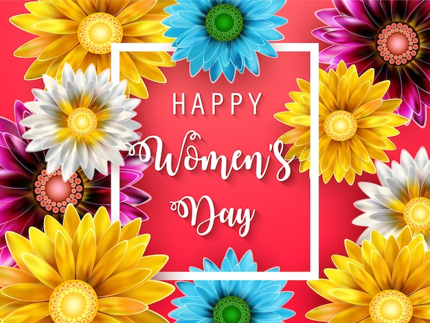 Vrouwendag kaart Premium Vector