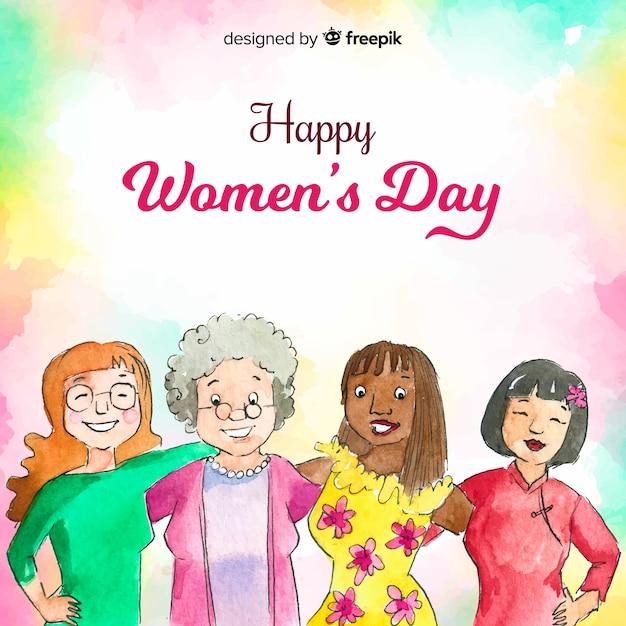 Vrouwendag Gratis Vector