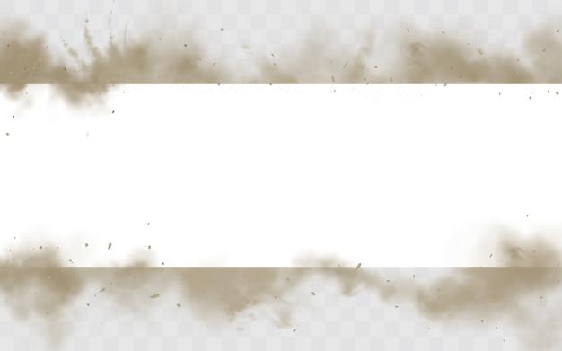 Vuile smog horizontale rand Gratis Vector
