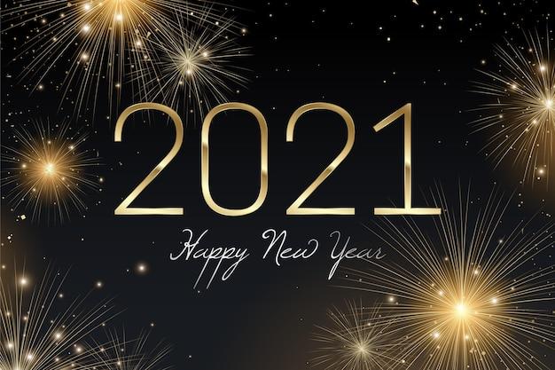 Vuurwerk nieuwjaar 2021 Gratis Vector