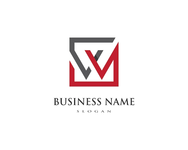 W letter logo business Premium Vector
