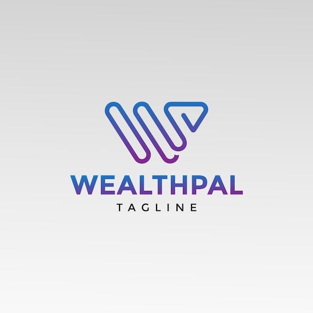 W letter-logo Premium Vector