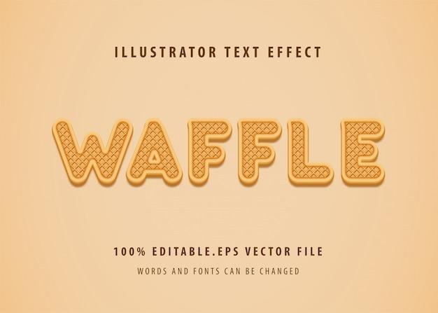 Wafel tekststijl effect Premium Vector