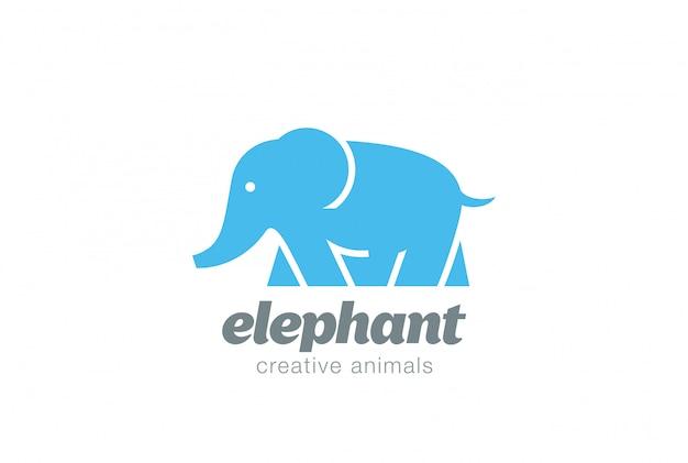 Wandelen olifant logo vector pictogram Gratis Vector