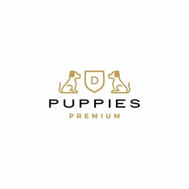 Wapenschild logo pictogram Premium Vector