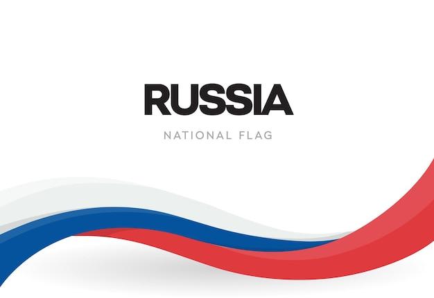 Wapperende vlag van de russische federatie Premium Vector
