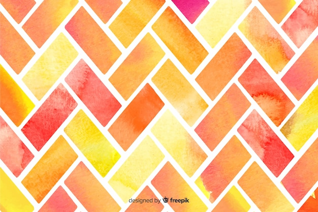 Warme kleuren mozaïek achtergrond Gratis Vector