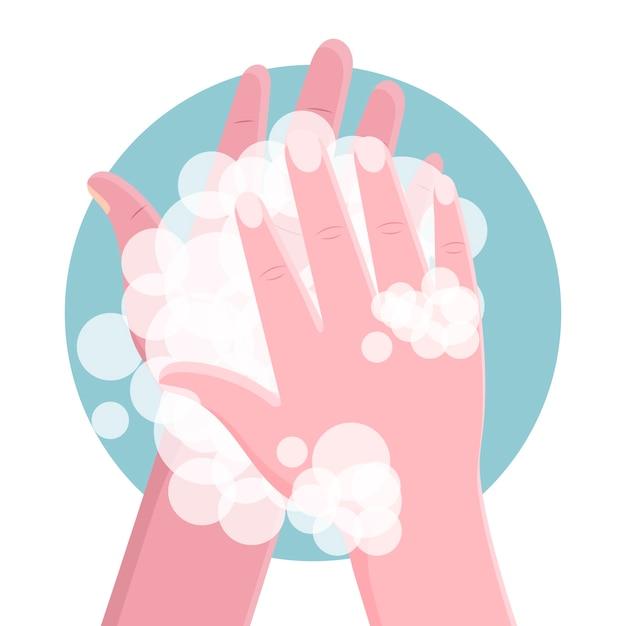 Was je handen Gratis Vector
