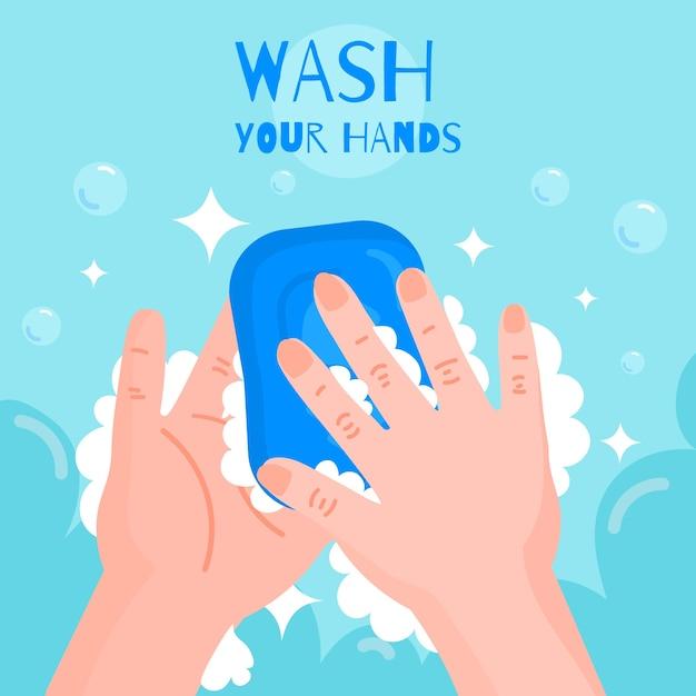 Was uw handenconcept Gratis Vector