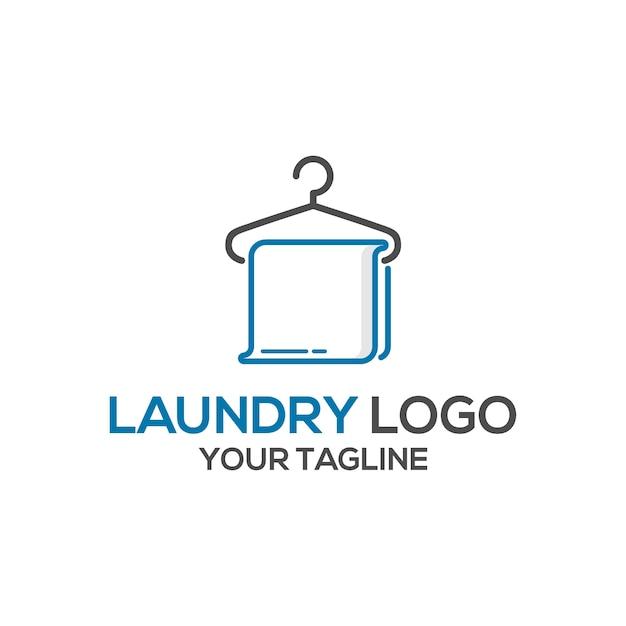 Wasserij logo ontwerp Premium Vector