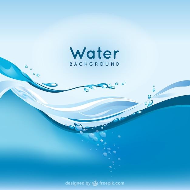 Water achtergrond Premium Vector