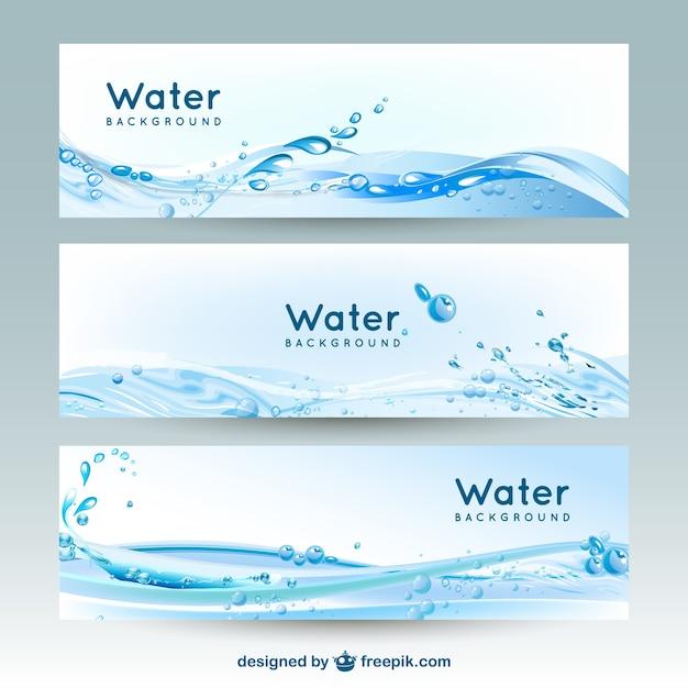 Water banner achtergronden Premium Vector