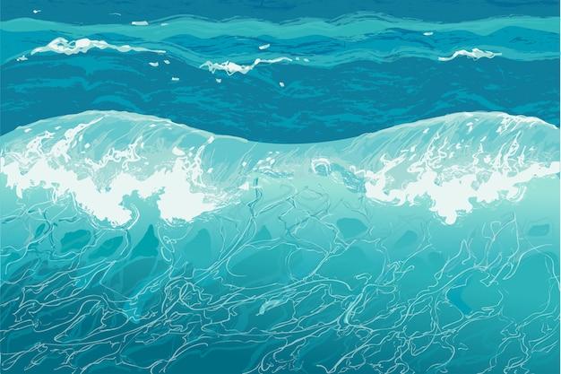 Water splash handgetekende vectorillustratie Premium Vector