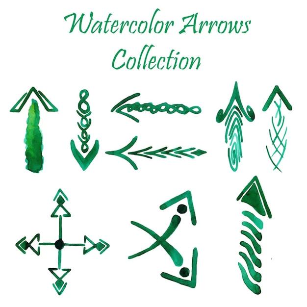Watercolor arrows collection Gratis Vector