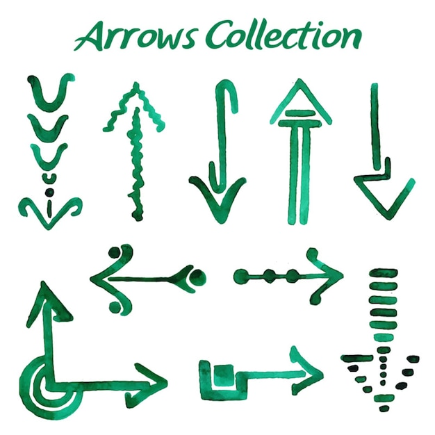 Watercolor arrows collection Gratis Vector