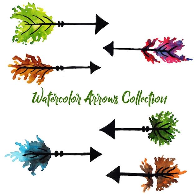 Watercolor arrows collection Premium Vector