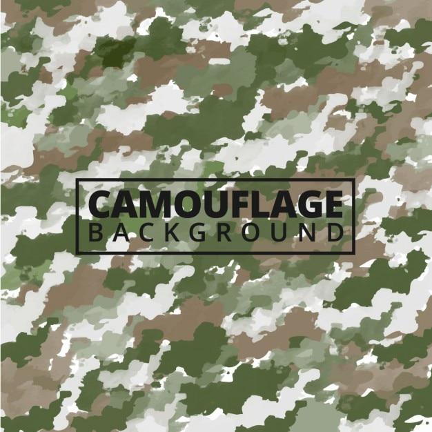 Watercolor camouflageachtergrond Gratis Vector