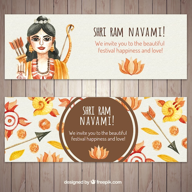 Watercolor pamnavmi banners Gratis Vector