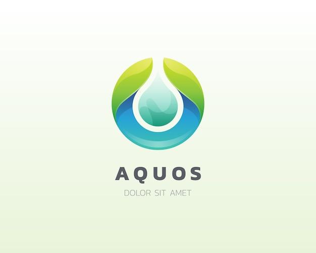 Waterdruppel logo. aqua zoet water logo icoon Premium Vector