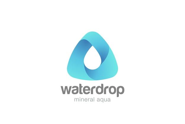 Waterdruppel logo. Gratis Vector
